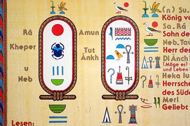 Hieroglyphen / Wie nannte man die Bil...