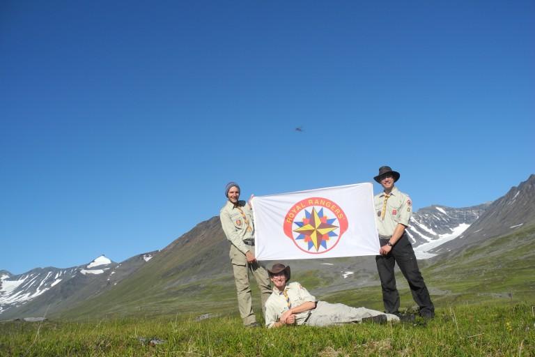 Richard Breite / Eine Ranger-Fahne da...