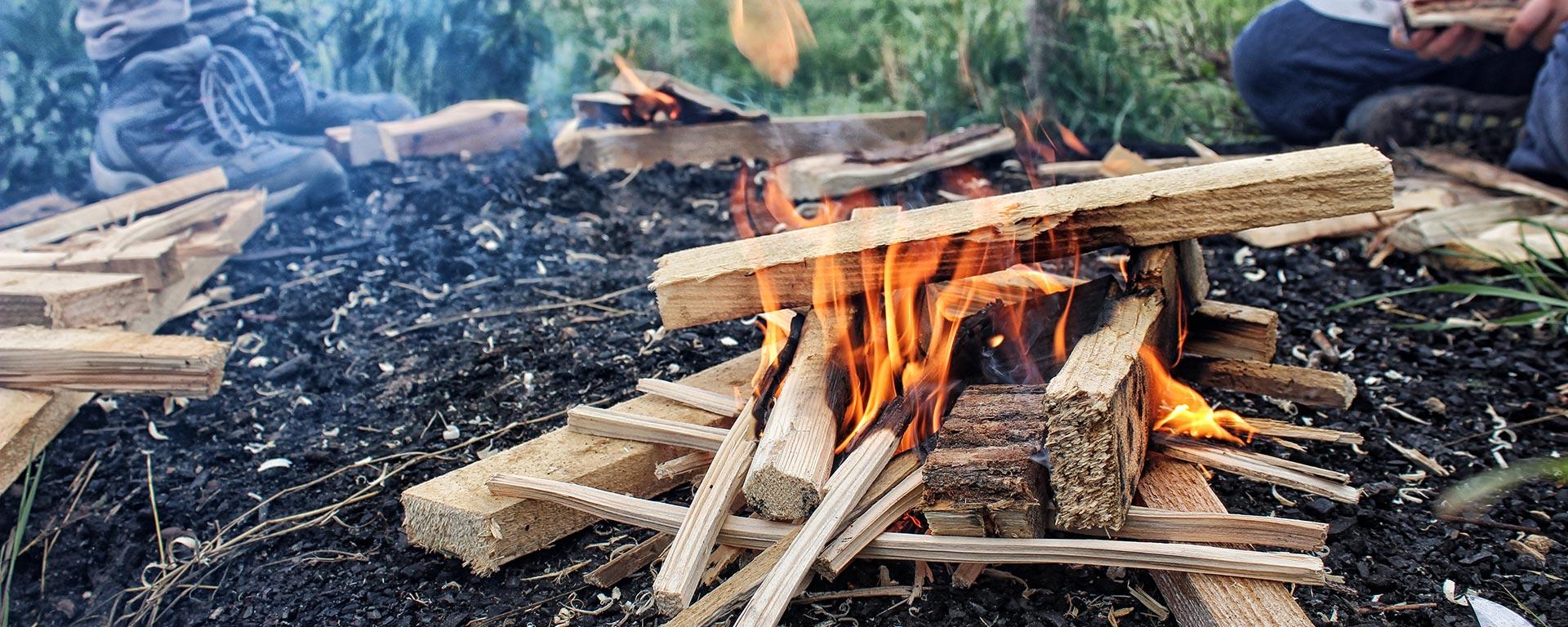 Ein Feuer mit einem Streichholz?