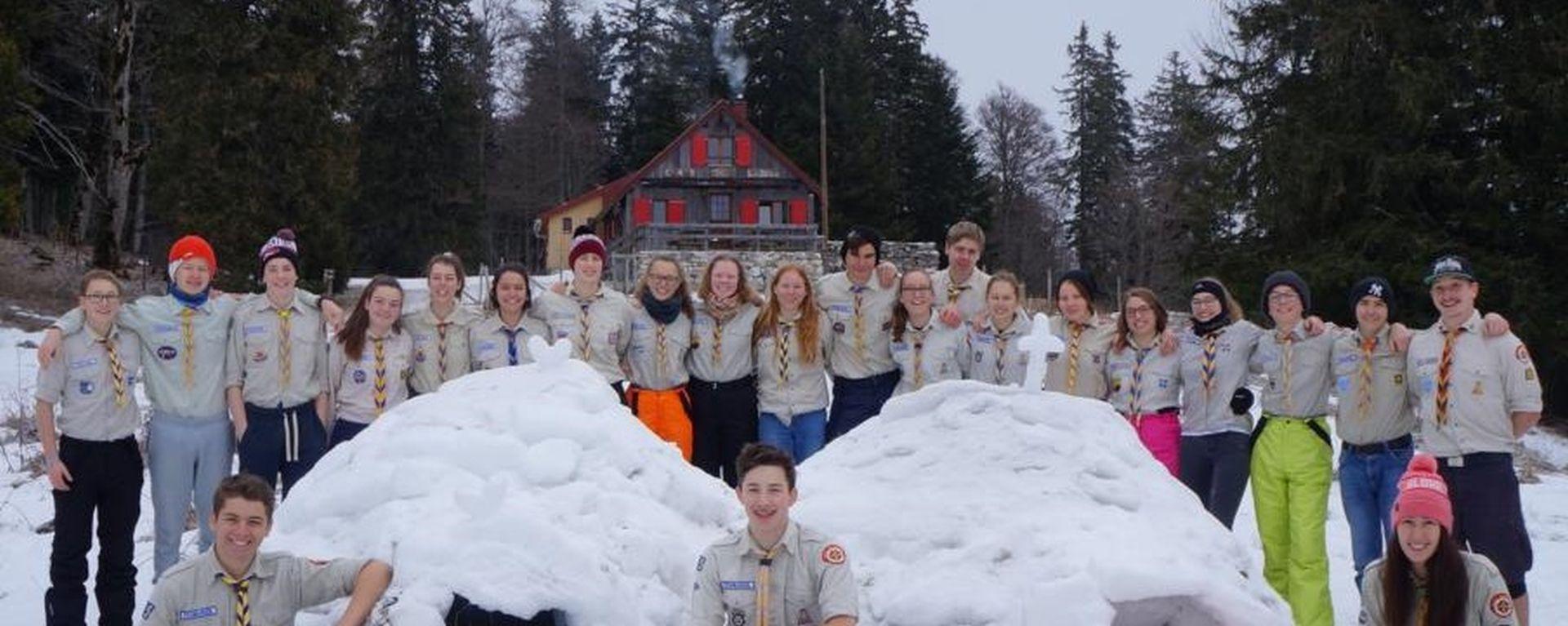 Pfadrangers im Wintercamp