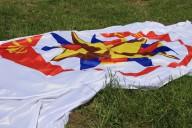 Oh oh, Rangerflagge auf dem Boden.