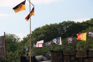 Flaggenparade.