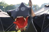 Auch ein Drache war auf dem Camp.