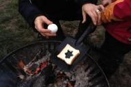 Das vorbereitete Toast und das unvorbereitete Ei...