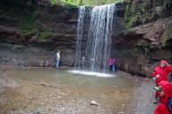 Bei den Hörschbachwasserfällen in Murrhardt