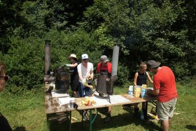 Waffeln ohne Strom - Waffeleisen auf Holzöfen
