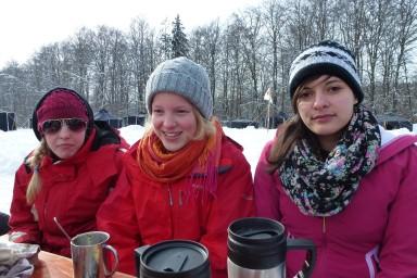 Beim Pfadfinderwintercamp nach einer sehr kalten Nacht #überlebt #Wintercamp2013