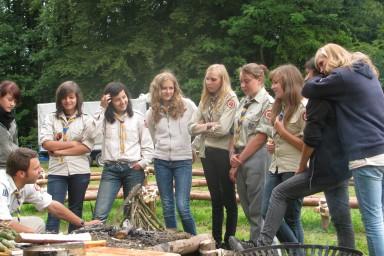 Mein Pfadfinderteam und ich #Feuerworkshop #Sommercamp11